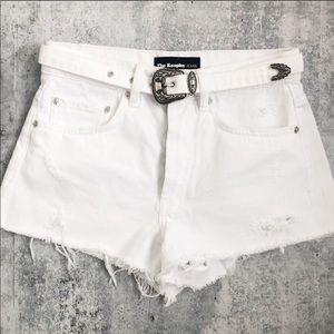 The Kooples western belted Jean cut off shorts
